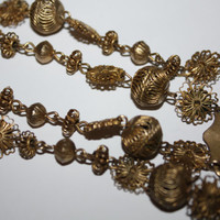 Antique Philippines Filipino Tamborin Tambourine Relikaryo Reliquary Necklace 1850s Jewelry