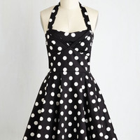 Pinup Sleeveless Fit & Flare Traveling Cake Pop Truck Dress in Black