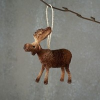 Bottle Brush Ornament - Moose