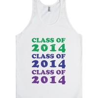 Rainbow Grad (buddy shirt 2)-Unisex White Tank