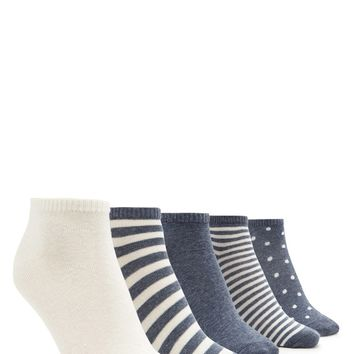 Polka Dot Ankle Sock Set