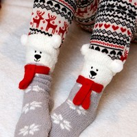 Snowflake Kisses Socks | Monday Dress Boutique