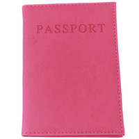 Fashion Faux Leather Travel Passport Holder Cover ID Card Bag Passport Wallet Protective Sleeve Storage Bag RD838528