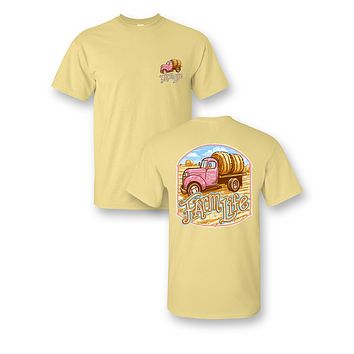 Sassy Frass Farm Life Hauling Hay Country Bright Girlie T Shirt