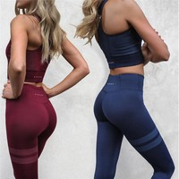 Women's Fashion Hot Sale Yoga Vest Pants Set [56917262351]
