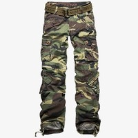 Match Juniors Camouflage Cargo Pants 3 Colors Available Petite Slim Fit Military Style Pants #2036M (Label size M/28 (US size 4), Green camouflage)