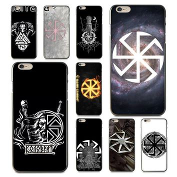 MaiYaCa Slavic Viking symbol Kolovrat  lovely  Phone Accessories Case for iPhone 8 7 6 6S Plus X 10 5 5S SE 5C Coque Shell