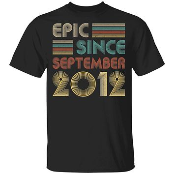 Epic Since September 2012 Vintage 8th Birthday Gifts Youth