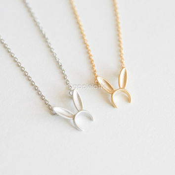 Cute Bunny Ears necklace, Bunny headband necklace, rabbit ear necklace, bunny jewelry, party jewelry