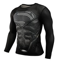 Compression Superhero (Long Sleeve) Superman, Spiderman, Captain America
