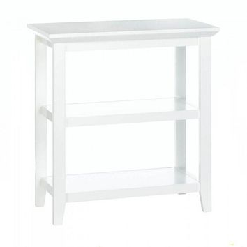 White Slim Display Table