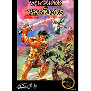 Retro Wizards and Warriors Game Poster//NES Game Poster//Video Game Poster//Vintage Game Reprint