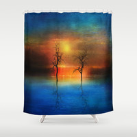 waterfall of light Shower Curtain by Viviana González | Society6