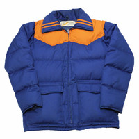 Vintage 80s Skiing Duck Down Jacket Mens Size Small