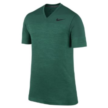 Nike Dri-FIT Knit V-Neck Men's Training Shirt - Mystic Green
