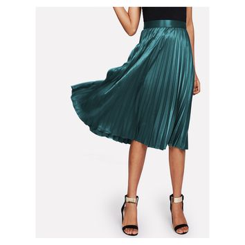 41a61ca94 Best Satin Pleated Skirt Products on Wanelo
