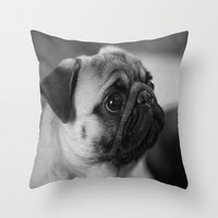 Happy Go Lucky Royal Noodle Throw Pillow by Veronica Ventress | Society6