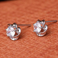 925 Silver Flower Earrings