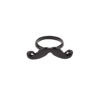 The Mustache Ring in Black