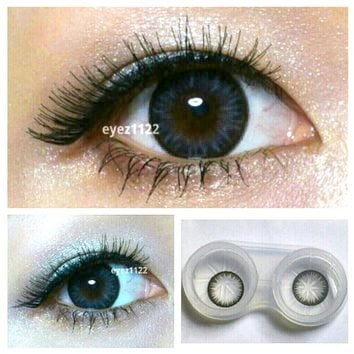 GEO Bella Grey Circle Lenses Colored Contacts Cosmetic Color Circle Lens | EyeCandy's