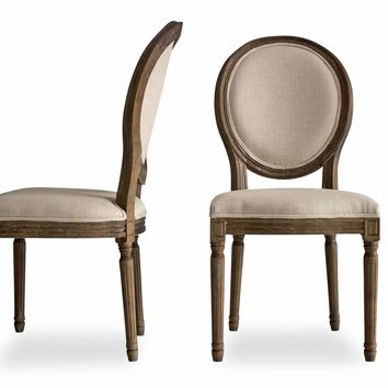 Elizabeth French Country Dining Chairs, Set of 2