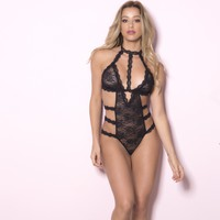 Lace Harness Teddy Lingerie