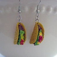 Mini Food Jewelry - Taco Dangle Earrings - Surgical Stainless Steel