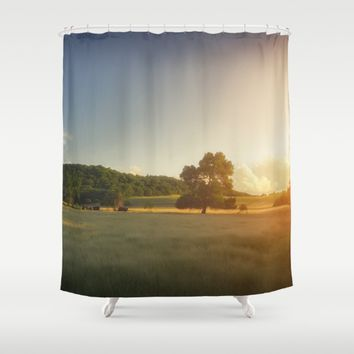 Sunset Landscape Shower Curtain by Cinema4design | Society6