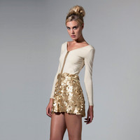 Gold Sequins Dress- Two piece dress made to order