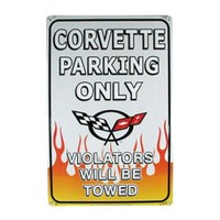 Corvette Parking Only Metal Sign Your favorite online gift shop!