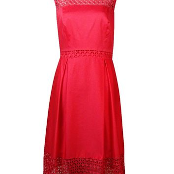 Calvin Klein Women's Illusion Lace-Net A-Line Dress