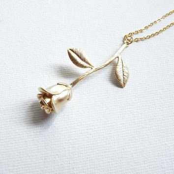 The rose - Little prince's rose - Rose necklace
