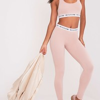 PrettyLittleThing Nude Leggings
