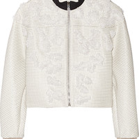 Balenciaga - Beaded crepe jacket