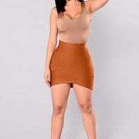 Back To Life Bandage Skirt - Camel