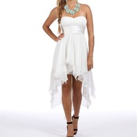 Tierra-White Hi Lo Dress