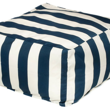 Cabana Outdoor Beanbag, Navy, Outdoor Poufs