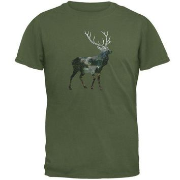 Chenier Deer Forest Nature Hiking Hunting Mens T Shirt