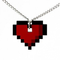ShanaLogic.com - 100% Handmade & Independent Design! 8-bit Heart Necklace - Best Sellers