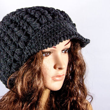 Crochet Hat, Chunky Hat, Women's cap by LoveKnittings