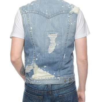 True Religion Jimmy Bleached Mens Vest - Sail Away