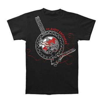 Avett Brothers Men's  Banjo Slim Fit T-shirt Black