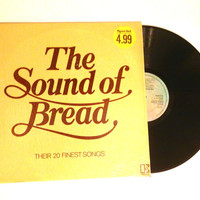 Vinyl LP UK Pressing Bread The Sound of Bread Their 20 Finest Songs Compilation 1977