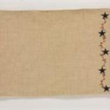 Burlap and Star Placemat