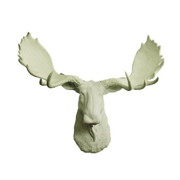 The Alberta | Moose Head | Faux Taxidermy | Sage Green Resin