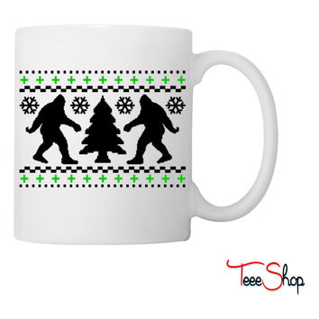 Ugly Holiday Bigfoot Christmas Sweater Coffee & Tea Mug