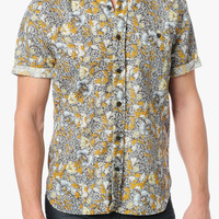 Button Up Floral Shirt In Dark Tobacco | 7 For All Mankind