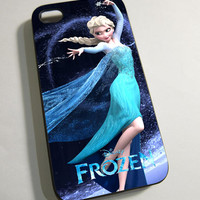 Elsa Princess Disney Frozen - Print on Hardplastic for iPhone 4/4s and 5 case, Samsung Galaxy S3/S4 case.