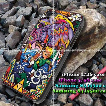 Legend of Zelda colorful iphone case, iphone 4/4S, iphone 5/5S, iphone 5c, samsung s3 i9300, samsung s4 i9500, design accesories