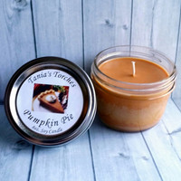 Pumpkin Pie Candle - Natural Soy Candle - Fall Scents